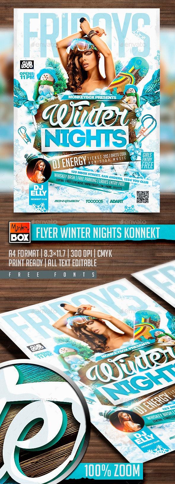 Flyer Winter Nights Konnekt - Clubs & Parties Events