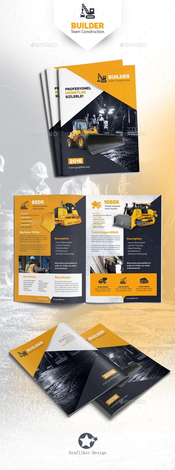 Construction Brochure Templates - Corporate Brochures