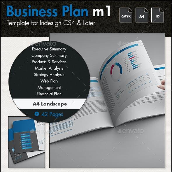 Business Plan Template m1 - A4 Landscape