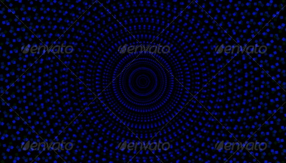 Blue Squares Spiral Background - Backgrounds Graphics
