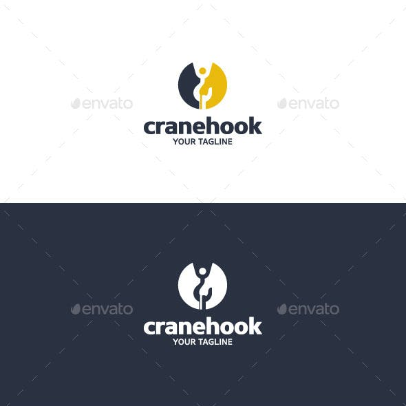 Crane Hook - Logo Template
