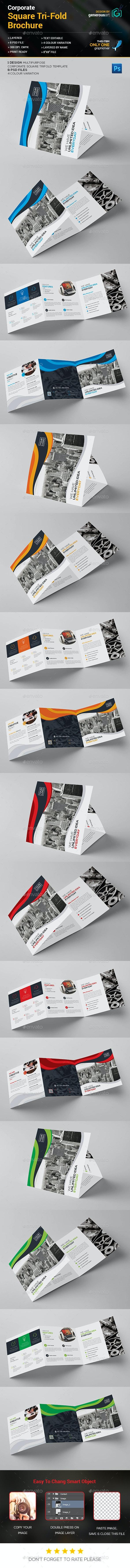 Square Tri-Fold Brochure – Corporate - Corporate Brochures