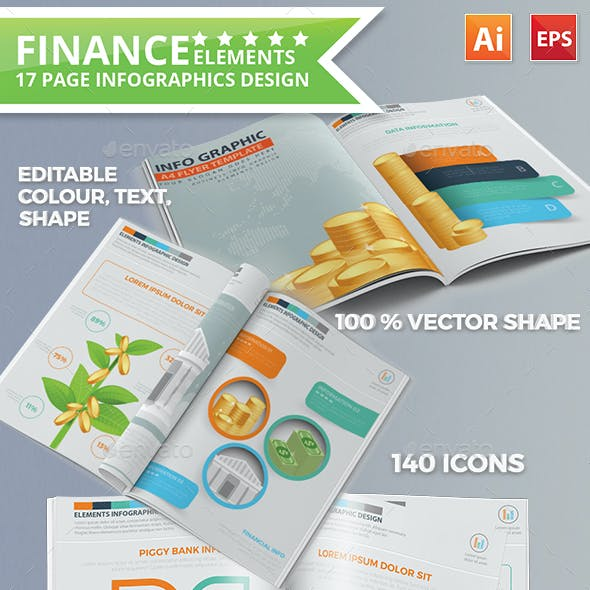 Finance Infographics 17 Pages Design