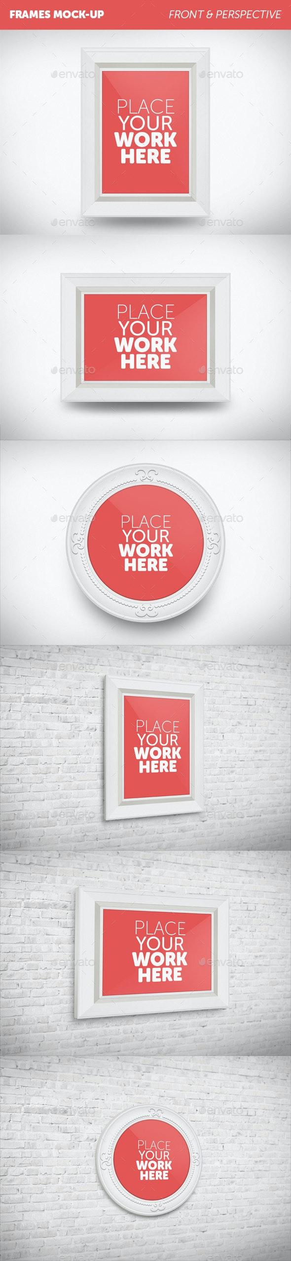Frames Mock-Up - Product Mock-Ups Graphics