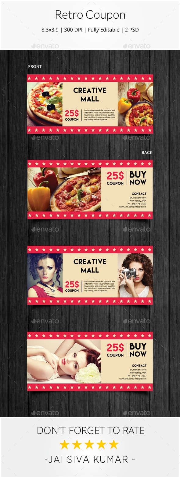 Retro Coupon - Loyalty Cards Cards & Invites