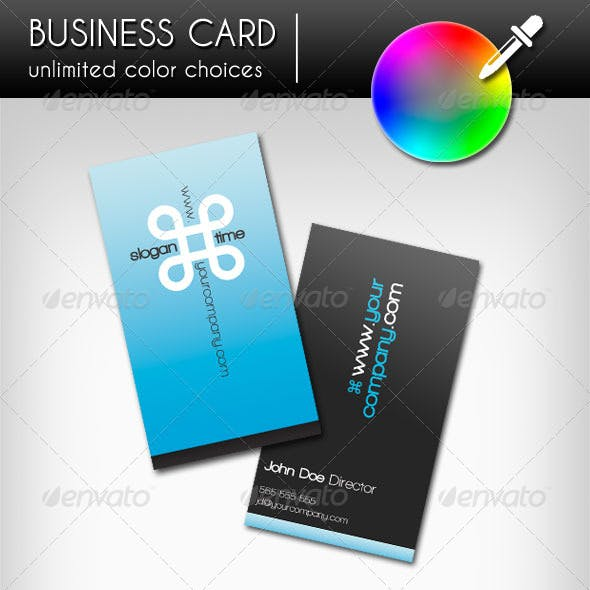 Business Card - Infinity (Vertical)