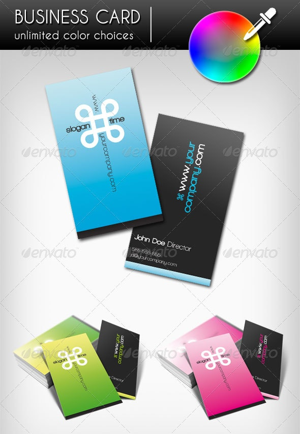 Business Card - Infinity (Vertical) - Creative Business Cards