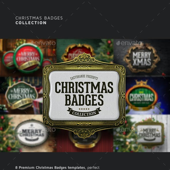 Christmas Badges Collection