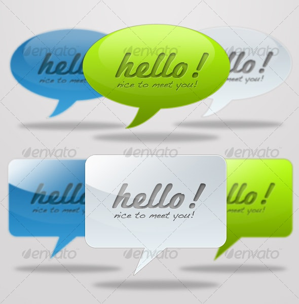 Web 2.0 Message Balloons - Miscellaneous Web Elements