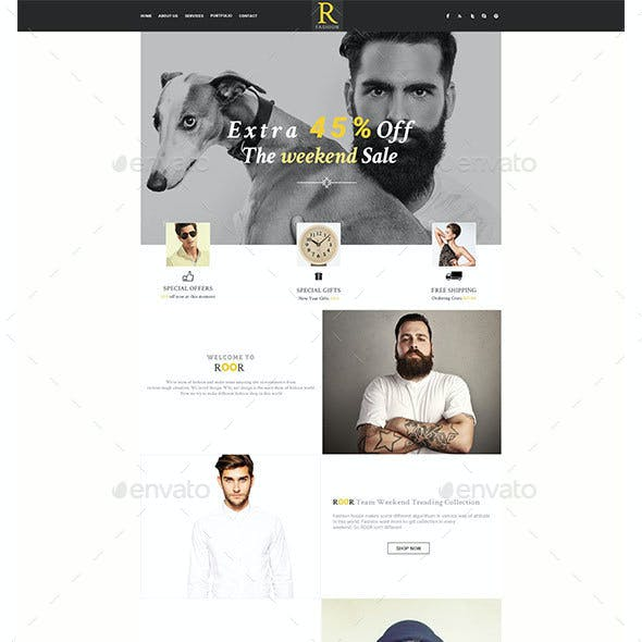 Roor Fashion E-Newsletter