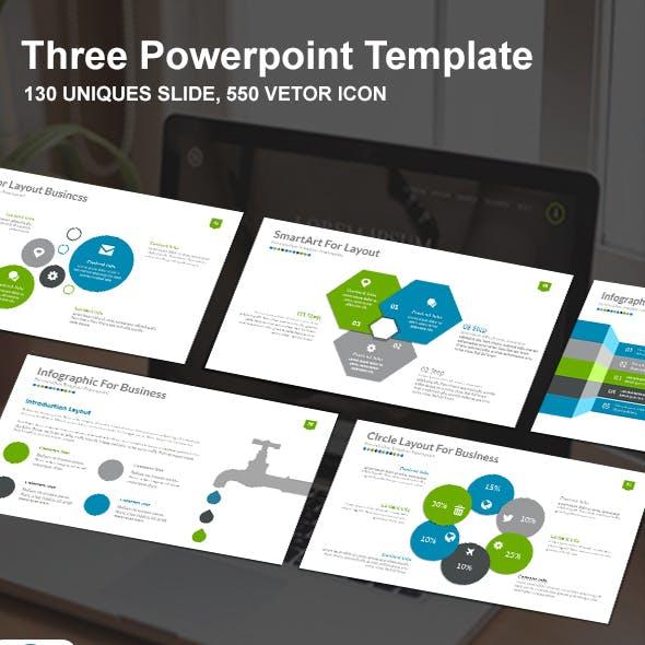 Three Report Presentation Powerpoint Template