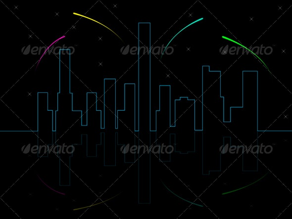 City - Abstract Backgrounds