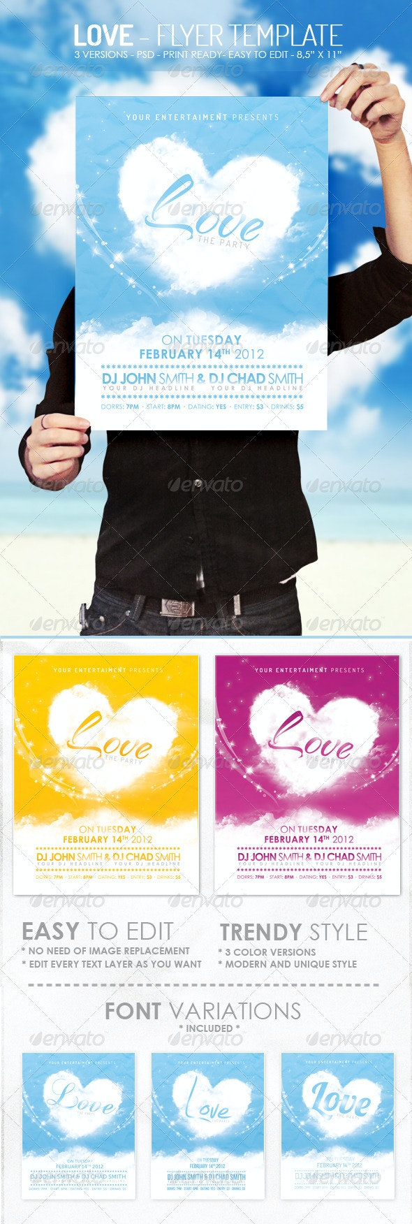 Love - Flyer Template - Clubs & Parties Events