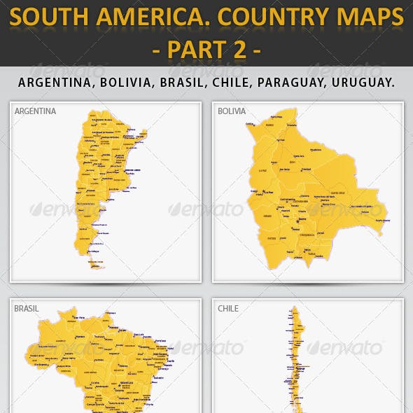 South America. Country maps - part 2