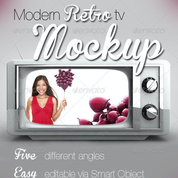 Modern Retro TV Image-Mockup