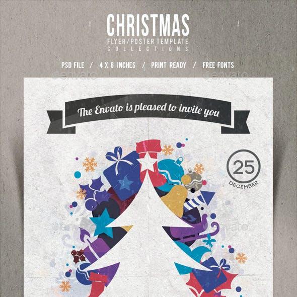 Christmas Flyer/Poster Retro Vol.12