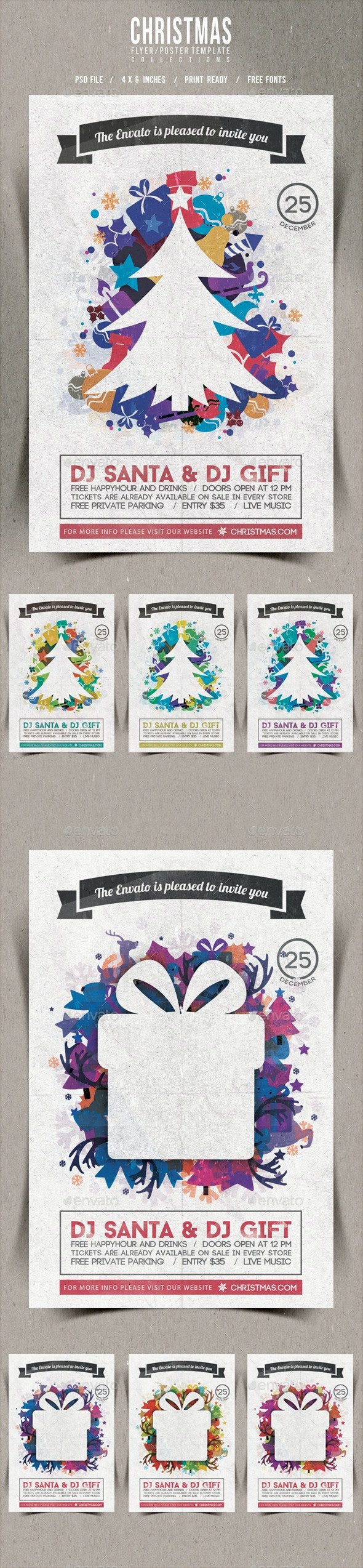 Christmas Flyer/Poster Retro Vol.12 - Events Flyers
