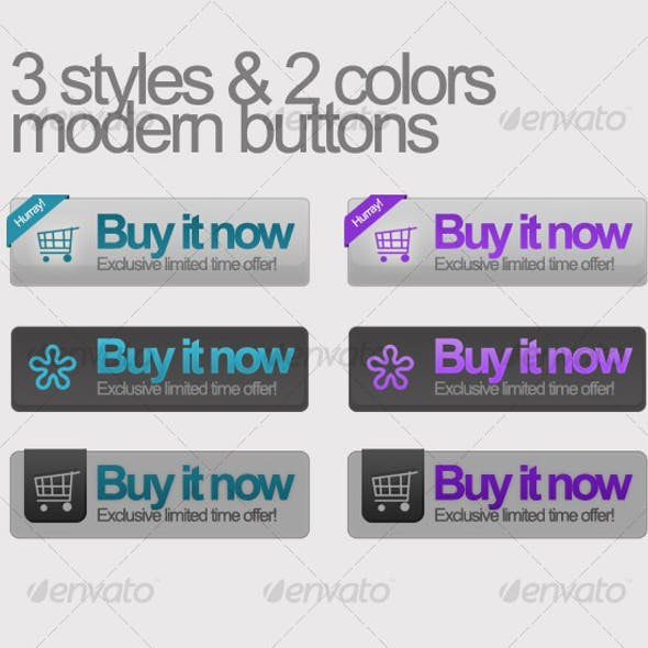 Buy it now buttons 3 styles w/ 2 colors