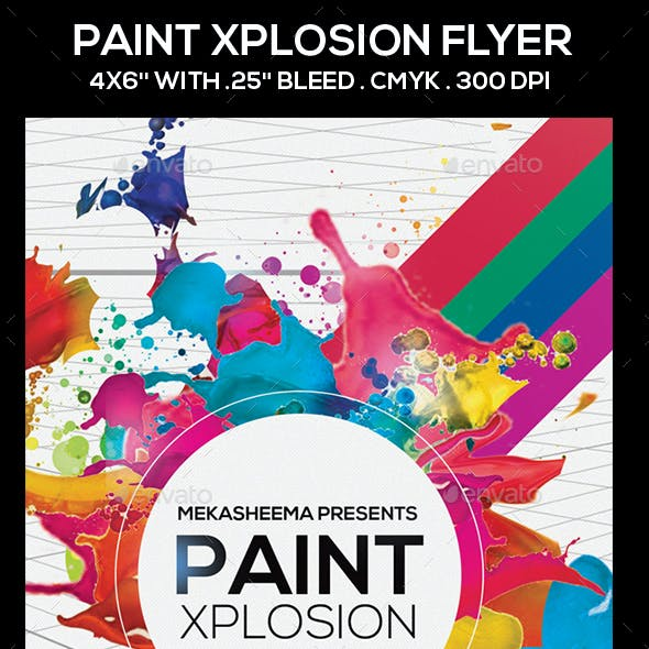 Paint Xplosion Flyer
