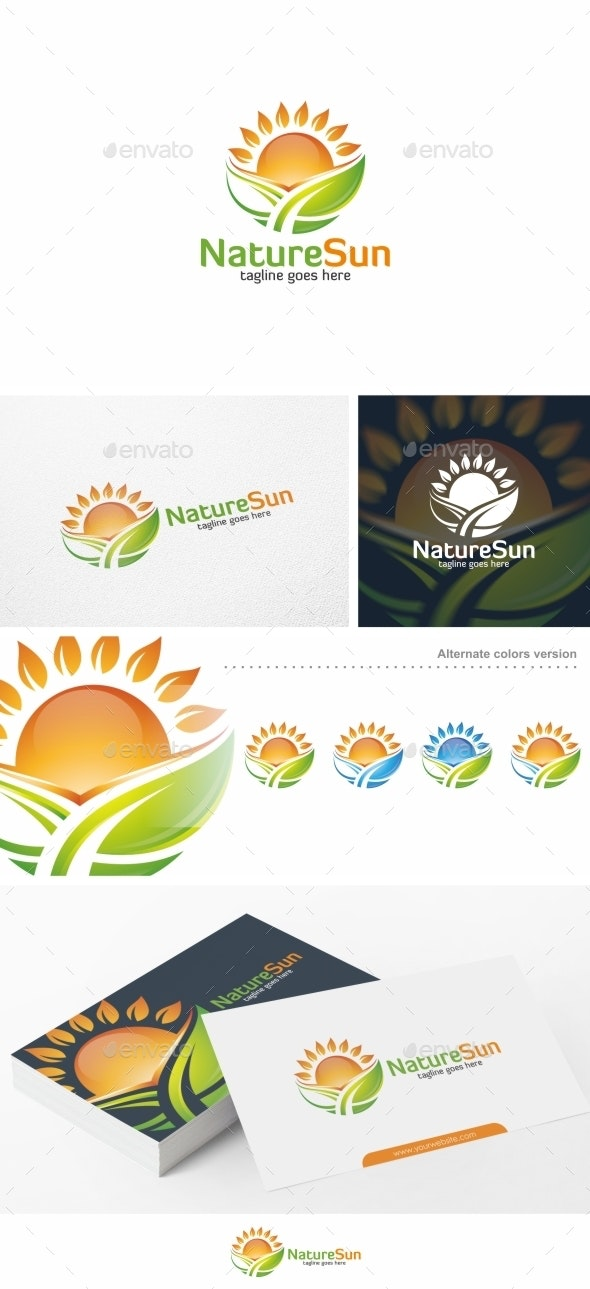 Nature Sun - Logo Template - Nature Logo Templates