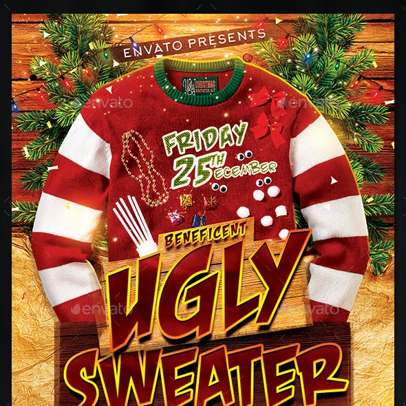 Beneficent Ugly Sweater Party Flyer