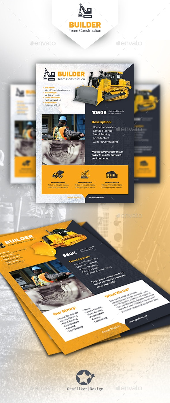 Construction Flyer Templates - Corporate Flyers