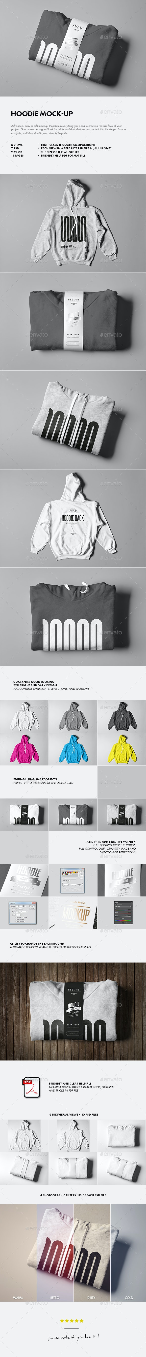Hoodie Mock-up - Apparel Product Mock-Ups