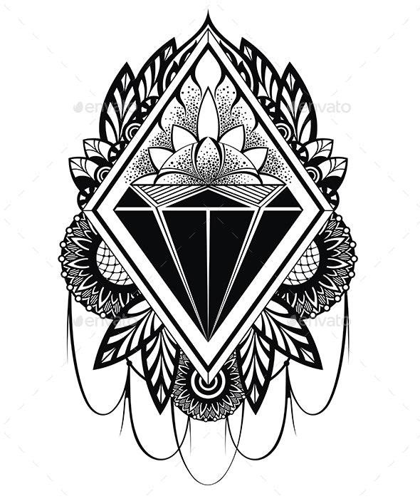 Diamond Tattoo By Ksyxa Graphicriver