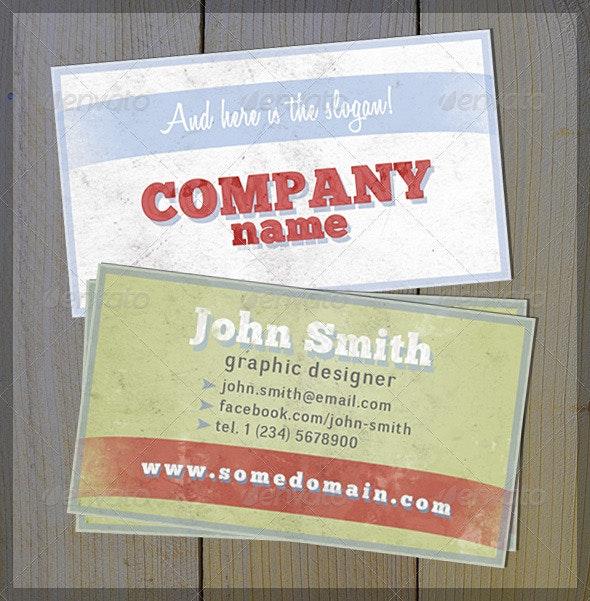Old Good Retro Card - Retro/Vintage Business Cards