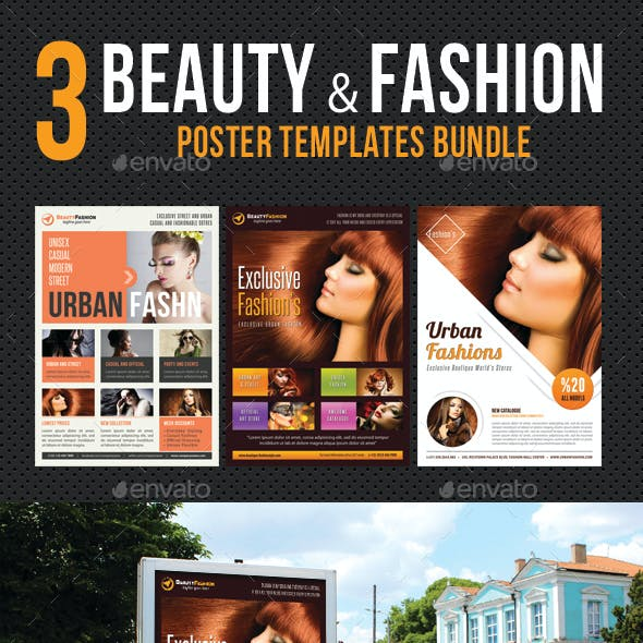 3 in 1 Beauty and Fashion Poster Bundle