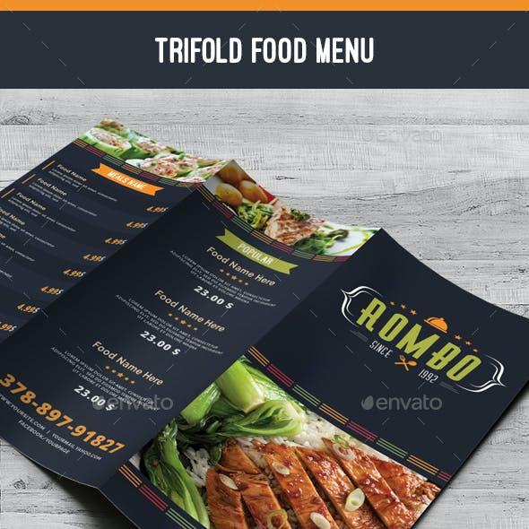 Trifold Food Menu 04