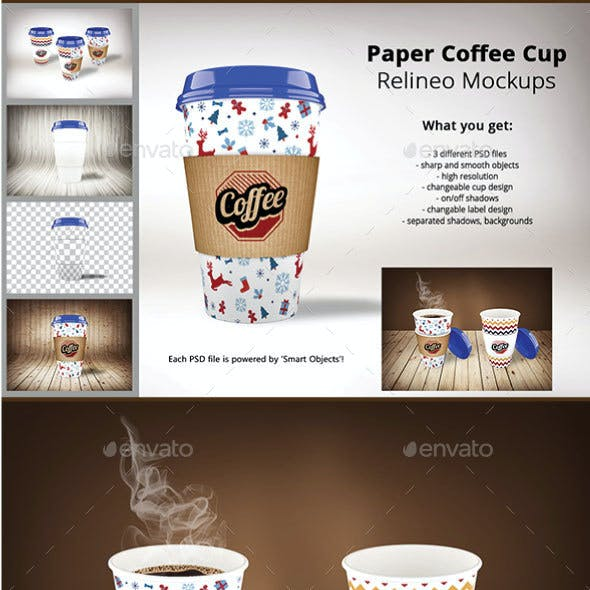 Paper Coffee Cup Mock-up Pack