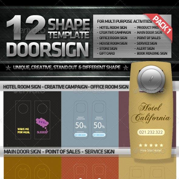 DOORSIGN PACK 1  (12 OPTIONAL DESIGN)
