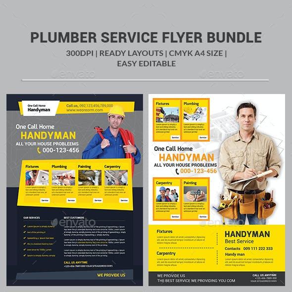 Plumber Service Flyers Bundle