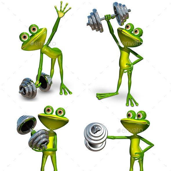 Frog with dumbbell
