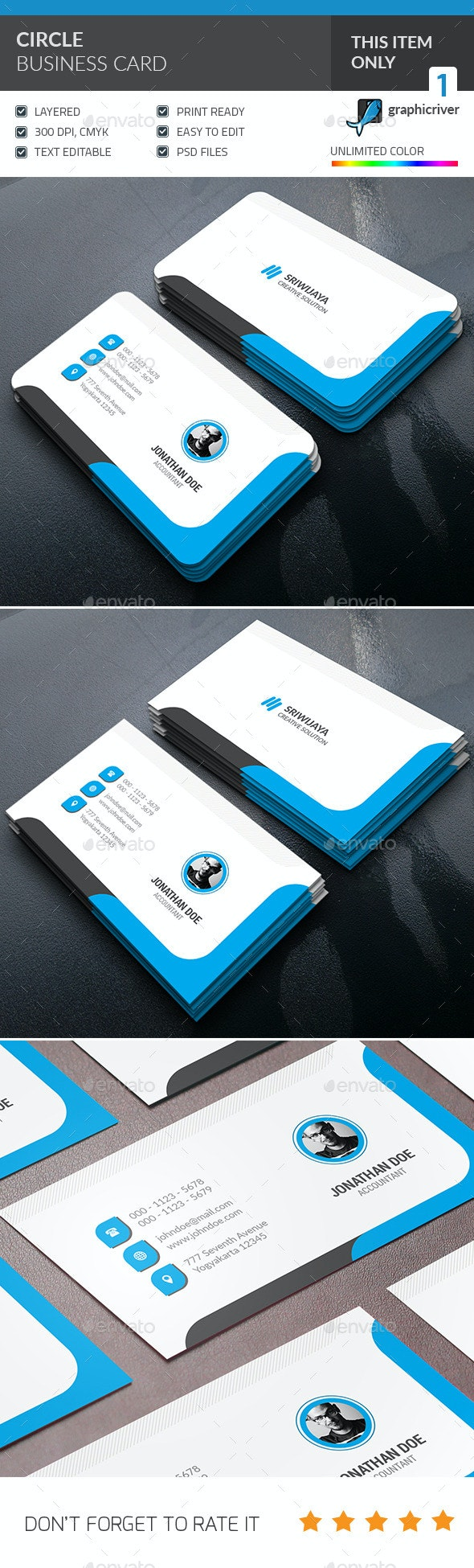 Circle Business Card - Creative Business Cards