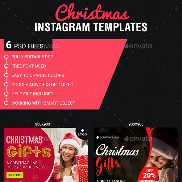 Christmas & New Year Instagram Templates