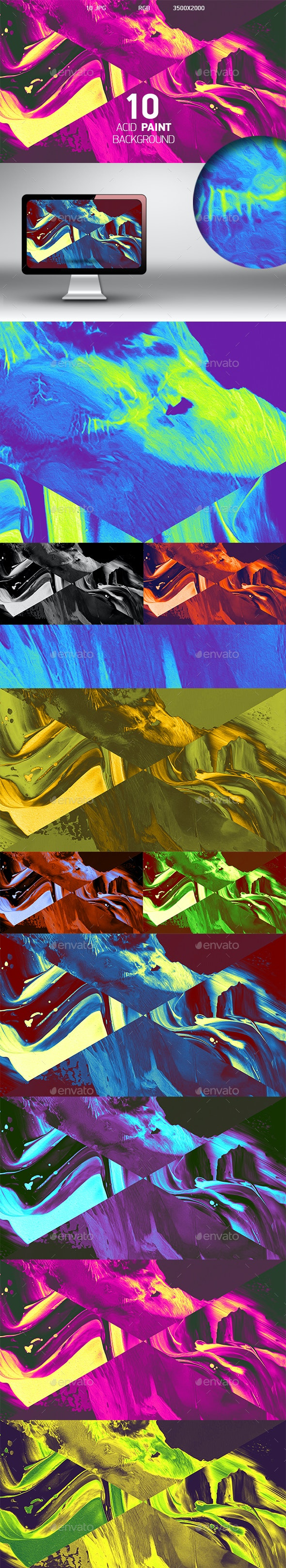 Acid Paint Background - Abstract Backgrounds