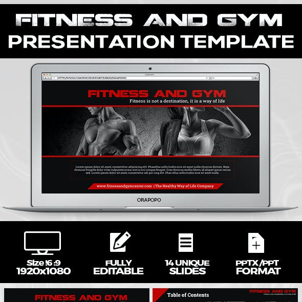 Fitness and Gym Presentation Template