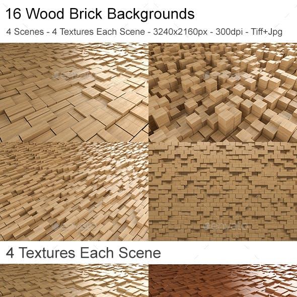 Wood Brick Backgrounds