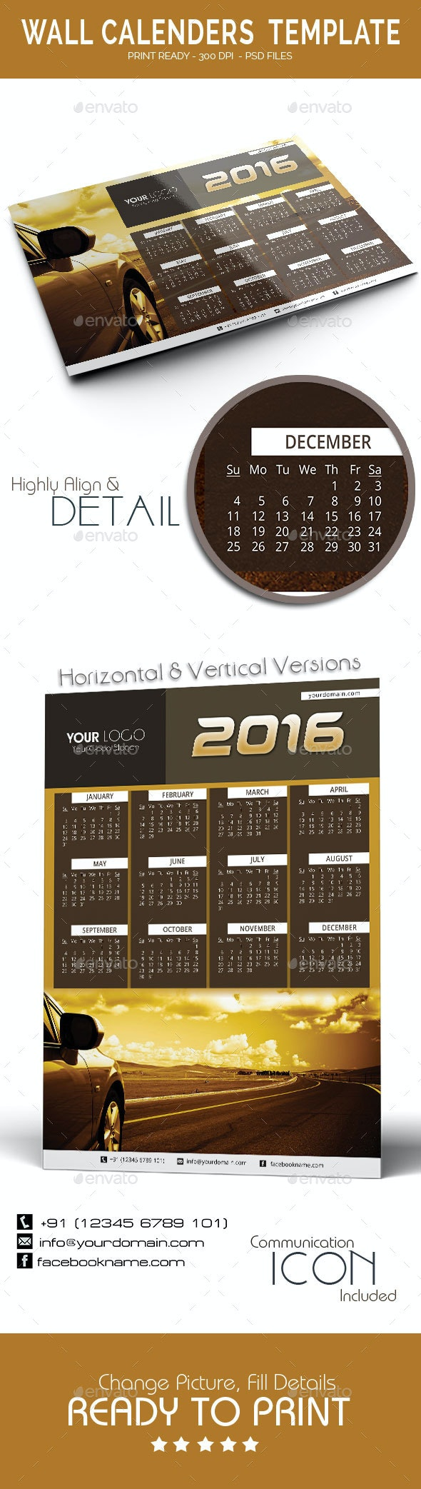 Calenders Templates 2016 - Calendars Stationery