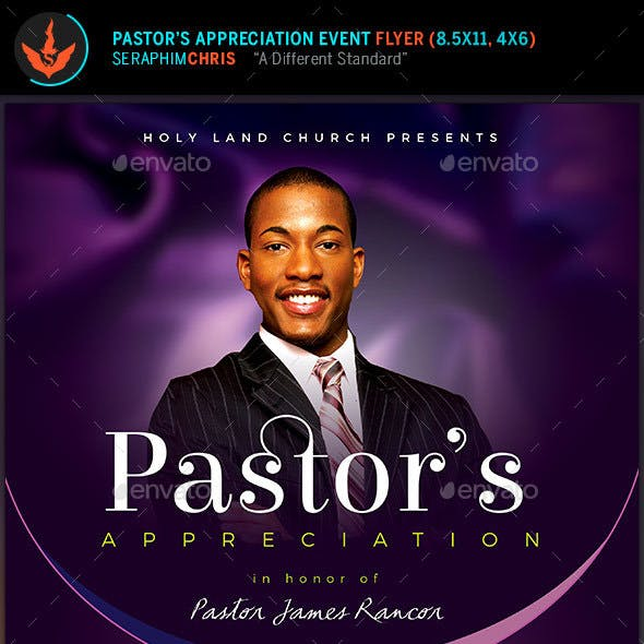 Lavender Pastor's Appreciation Church Flyer