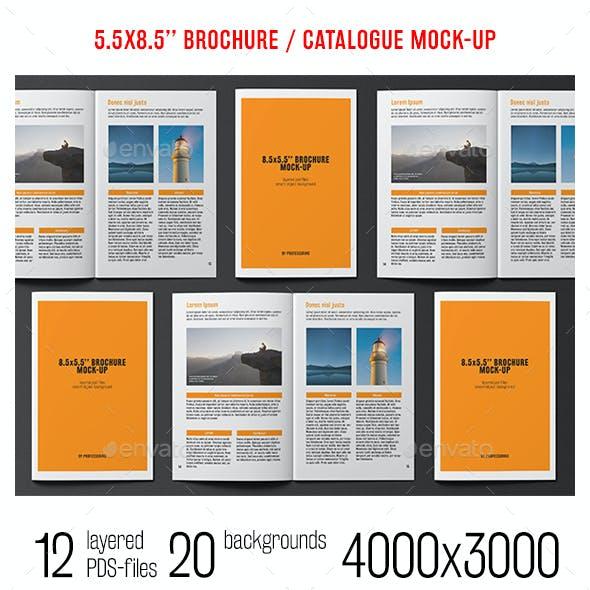 8.5x5.5 Brochure / Catalogue Mock-Up