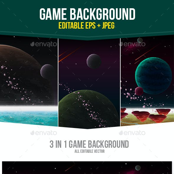Space Galaxy Game Background