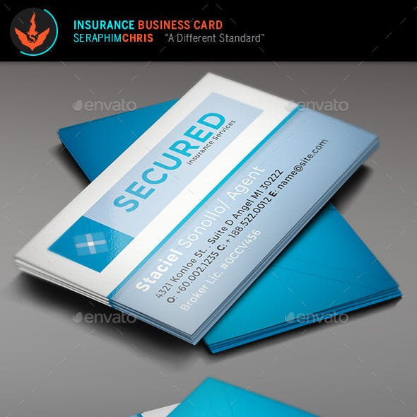 Secured: Insurance Business Card Template