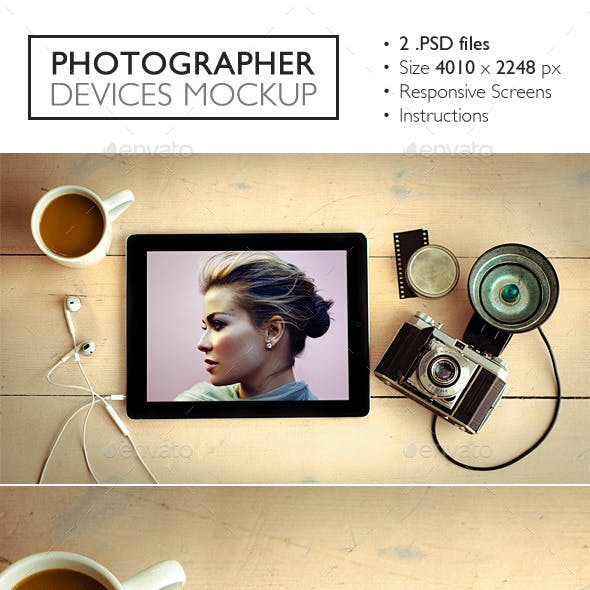 Photographer Devices Mockup
