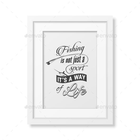 Quote Typographical Background In The White Frame