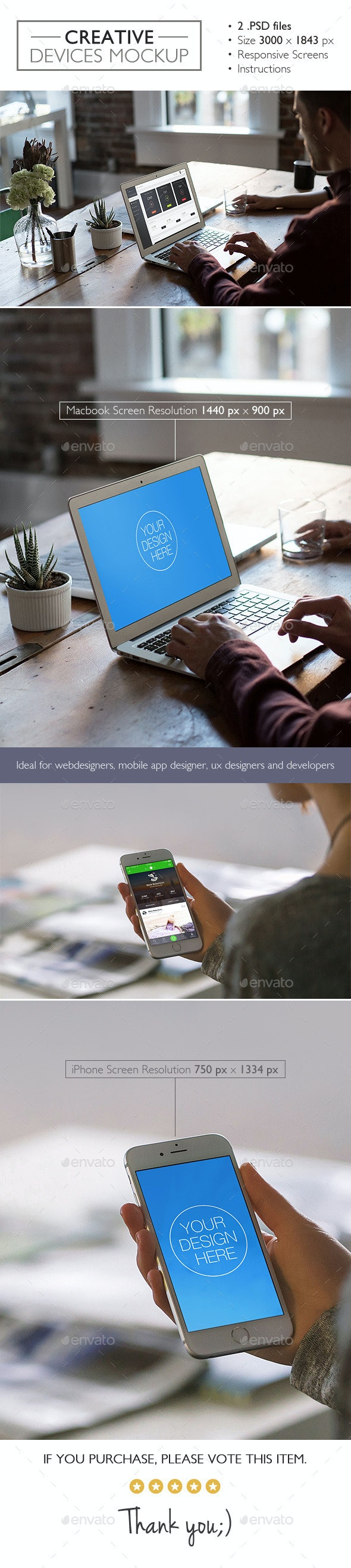 Creative Devices Mockup - Product Mock-Ups Graphics