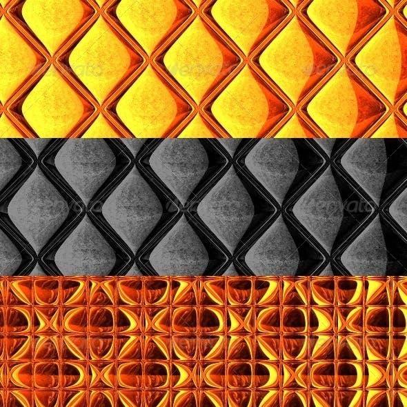 Metallic Backgrounds Set
