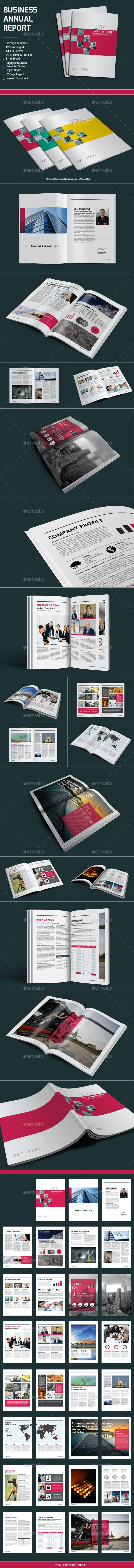 Business Annual Report - Informational Brochures